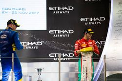 Podium: Race winner Oliver Rowland, DAMS, Third place Antonio Fuoco, PREMA Powerteam