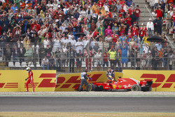 Sebastian Vettel; Ferrari SF71H crashed out of the lead