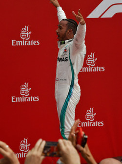Race winner Lewis Hamilton, Mercedes-AMG F1 celebrates in parc ferme