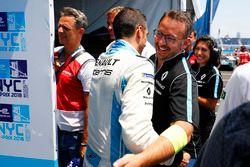 Sébastien Buemi, Renault e.Dams, fête la pole position