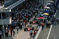 Michele Alboreto, Ferrari F186, Stefan Johansson, Ferrari F186