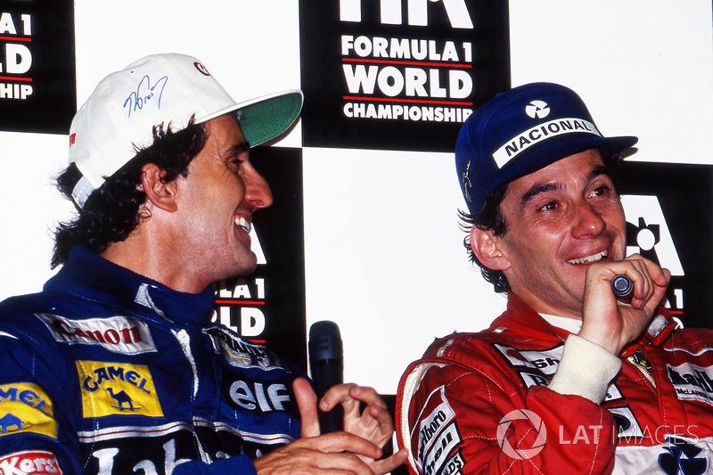 """""""La charla más grata con Senna la mantuve un rato antes de su muerte"""". Alain Prost"""