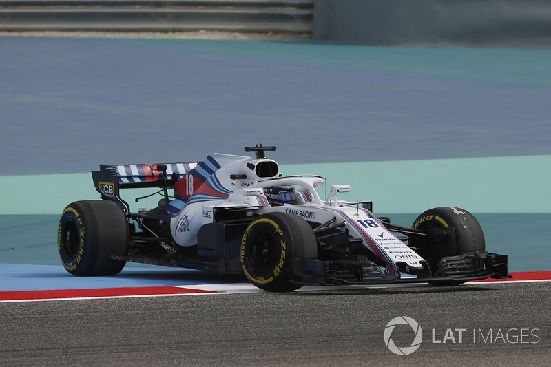 Lance Stroll, Williams FW41 spins