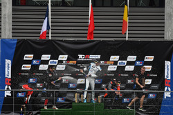 Podium: Winner Kris Richard, Target Competition Hyundai i30 N TCR, second place Julien Briché, JSB Compétition Peugeot 308 TCR, third place Maxime Potty, Comtoyou Racing Volkswagen Golf GTI TCR