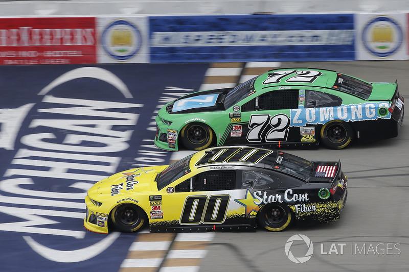 Landon Cassill, StarCom Racing, Chevrolet Camaro StarCom Fiber Corey LaJoie, TriStar Motorsports, Chevrolet