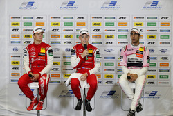 Press conference, Ralf Aron, PREMA Theodore Racing Dallara F317 - Mercedes-Benz, Marcus Armstrong, PREMA Theodore Racing Dallara F317 - Mercedes-Benz, Jehan Daruvala, Carlin Dallara F317 - Volkswagen