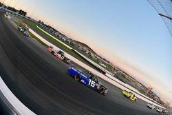 Brett Moffitt, Hattori Racing Enterprises, Toyota Tundra AISIN Group and Noah Gragson, Kyle Busch Motorsports, Toyota Tundra Safelite AutoGlass