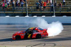 Justin Allgaier, JR Motorsports, Chevrolet Camaro BRANDT Professional Agriculture celebrates his win with a burnout