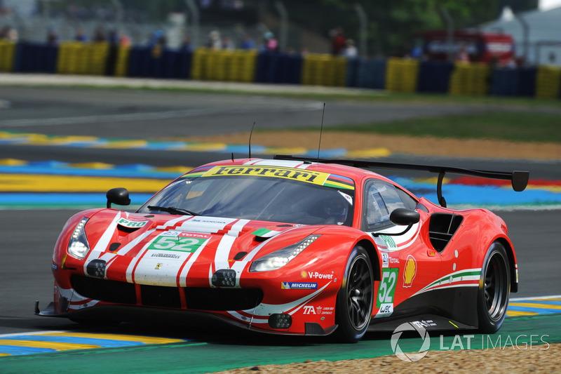 46. Тони Виландер, Антонио Джовинацци, Пипо Дерани, AF Corse, Ferrari 488 GTE Evo (№52)