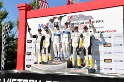#3 Corvette Racing Chevrolet Corvette C7.R, GTLM: Antonio Garcia, Jan Magnussen, #67 Chip Ganassi Racing Ford GT, GTLM: Ryan Briscoe, Richard Westbrook, #4 Corvette Racing Chevrolet Corvette C7.R, GTLM: Oliver Gavin, Tommy Milner
