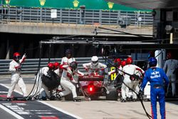 Marcus Ericsson, Sauber C37, comes in for a stop