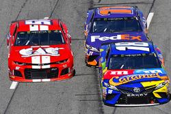Kyle Busch, Joe Gibbs Racing, Toyota Camry M&M's Caramel and Harrison Rhodes, Rick Ware Racing, Chev