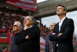 Piero Lardi Ferrari, vicepresidente de Ferrari y Sergio Marchionne, CEO de FIAT