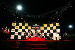 Podium: vainqueur Jonathan Rea, Kawasaki Racing, deuxième place Chaz Davies, Ducati Team, troisième place Marco Melandri, Ducati Team