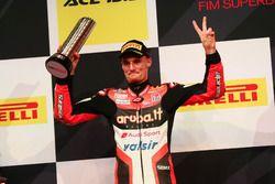Podium: deuxième place Chaz Davies, Ducati Team