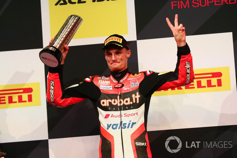 Podio: segundo lugar Chaz Davies, Ducati Team