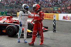 Обладатель второго места Валттери Боттас, Mercedes AMG F1, третье место – Кими Райкконен, Ferrari