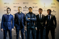 Norman Nato, Sergey Sirotkin, Renault Sport F1 Team Test Driver, Charles Leclerc, Sauber, Sean Gelael, Scuderia Toro Rosso and Alfonso Celis Jr. at Amber Lounge Fasion Show