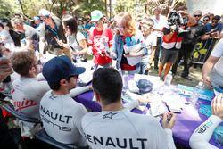 Sébastien Buemi, Renault e.Dams, Nicolas Prost, Renault e.Dams at the autograph session
