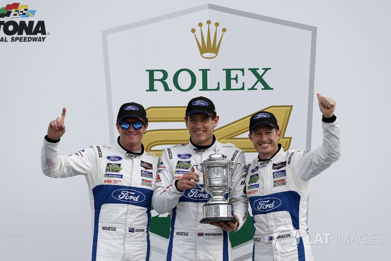 Victory lane, Winner GTLM: #67 Ford Performance Chip Ganassi Racing Ford GT: Ryan Briscoe, Richard Westbrook, Scott Dixon