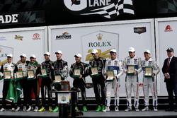 Victory lane all classes: #5 Action Express Racing Cadillac DPi: Joao Barbosa, Filipe Albuquerque, C