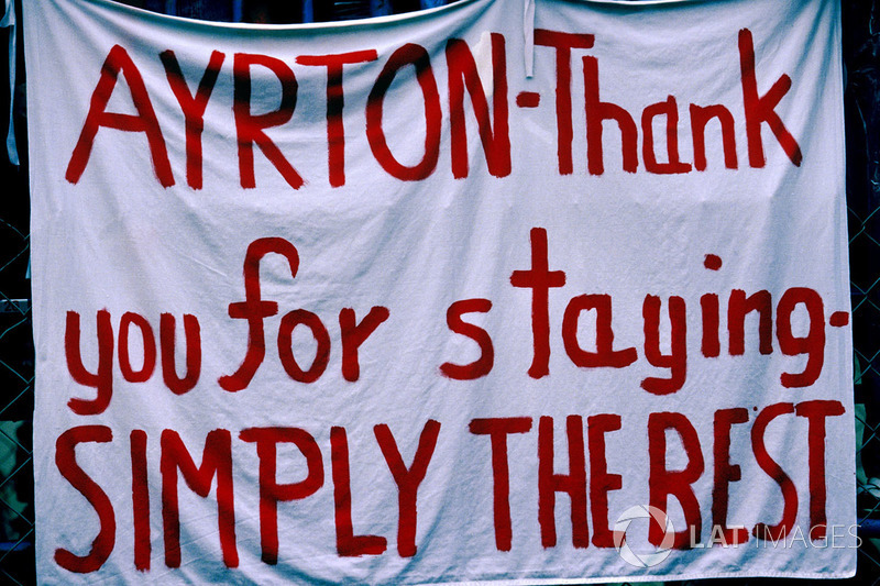 Message des fans pour Ayrton Senna
