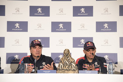 Carlos Sainz, Lucas Cruz, Peugeot Sport press conference