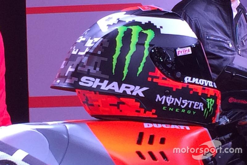 El casco de Jorge Lorenzo, Ducati