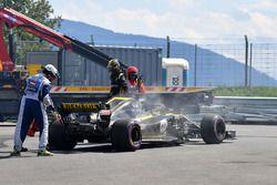 Nico Hulkenberg, Renault Sport F1 Team R.S. 18 après son abandon
