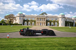Robocar driving by Goodwood House at testing