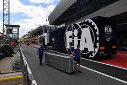 FIA truck in pit lane