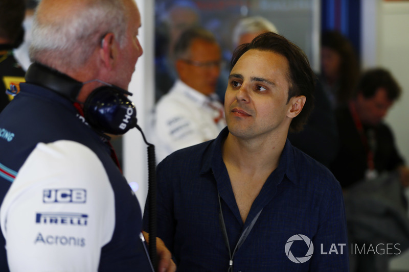 Felipe Massa, former Williams Martini Racing driver visits his old team