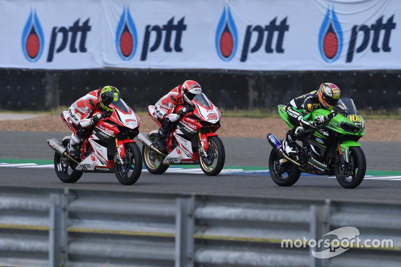 Awhin Sanjaya dan Rheza Danica, Astra Honda Racing Team; AM Fadly, Manual Tech KYT Kawasaki R
