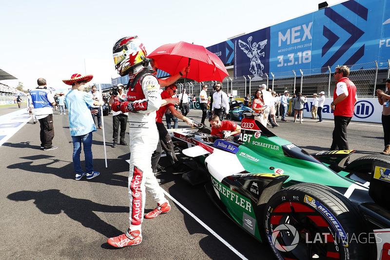 Daniel Abt, Audi Sport ABT Schaeffler, en la parrilla