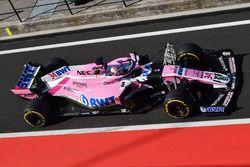 Nicholas Latifi, Force India VJM11 avec des capteurs aérodynamiques