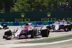 Esteban Ocon, Force India ans Sergio Perez, Force India VJM11