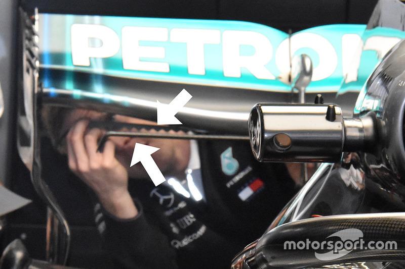 Generador de vórtice en Mercedes AMG F1 W09