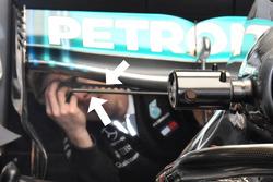 Vortex generator on Mercedes AMG F1 W09