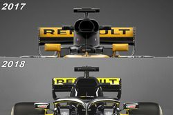 Airbox comparison Renault F1 Team RS18 vs RS17