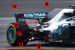 Задняя часть Mercedes AMG F1 W09