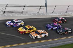 A.J. Allmendinger, JTG Daugherty Racing Chevrolet Camaro, Joey Logano, Team Penske Ford Fusion, Paul Menard, Wood Brothers Racing Ford Fusion