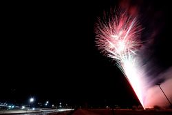 Fire works on track