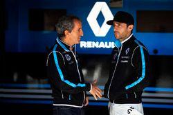 Alain Prost, Senior Team Manager, Renault e.Dams, avec Nicolas Prost, Renault e.Dams
