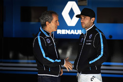 Alain Prost, Senior Team Manager, Renault e.Dams, with Nicolas Prost, Renault e.Dams