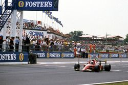 Il vincitore della gara Alain Prost, Ferrari 641/2