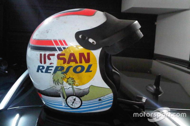 Primer casco de Juan Porcar en el Dakar 1982
