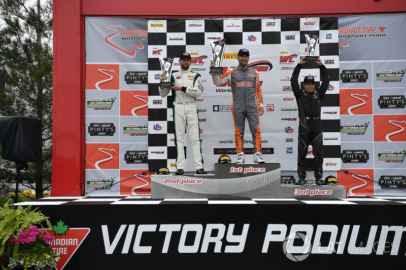 #2 CRP Racing Mercedes-AMG GT3: Daniel Morad, #24 Alegra Motorsports Porsche 911 GT3 R: Michael Christensen, #31 TR3 Racing Ferrari 488 GT3: Daniel Mancinelli