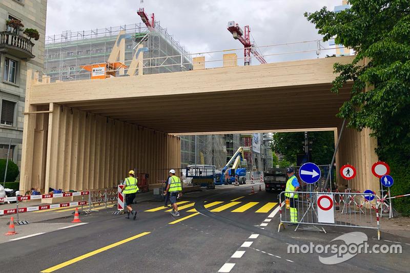 Lavori stradali sulla pista dell'ePrix di Zurigo