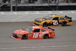 Kyle Busch, Joe Gibbs Racing, Toyota Camry Maltesers and Daniel Hemric, Richard Childress Racing, Ch