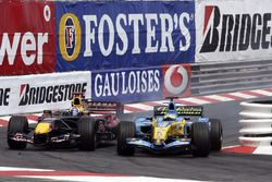 Fernando Alonso,Renault, David Coulthard, Red Bull Racing